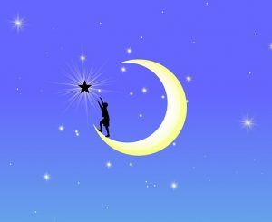 New moon man reaching for star psychic reading